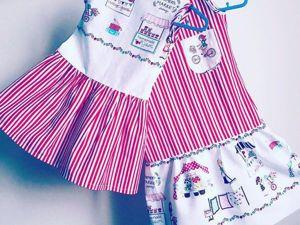 Видео мастер-класс: шьем детское платье. Ярмарка Мастеров - ручная работа, handmade.