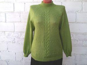 Новая цена на свитер салатовый из ангоры 1500р, доставка бесплатно. Ярмарка Мастеров - ручная работа, handmade.