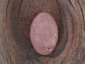 Видео кабошона из резного розового кварца RQ 0018. Ярмарка Мастеров - ручная работа, handmade.