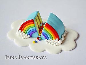 Видео мастер-класс: радужный торт из полимерной глины. Ярмарка Мастеров - ручная работа, handmade.