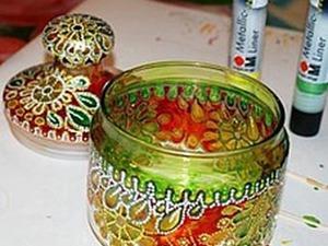 Расписываем конфетницу. Ярмарка Мастеров - ручная работа, handmade.