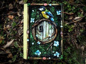 Дверь в лес: этапы создания обложки из полимерной глины для блокнота Forest Door. Ярмарка Мастеров - ручная работа, handmade.