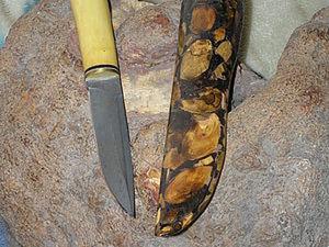 """Инкрустация деревом кожаных ножен или """"вывернутые ножны"""". Ярмарка Мастеров - ручная работа, handmade."""