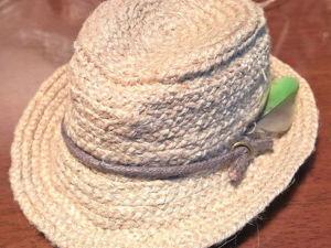 Создаем псевдоплетеную мужскую шляпу из шпагата. Ярмарка Мастеров - ручная работа, handmade.