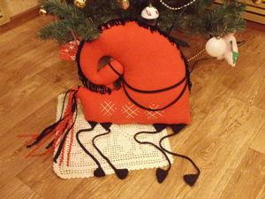 Шьем мезенскую лошадку-подушку. Ярмарка Мастеров - ручная работа, handmade.