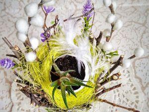 Создаем флористическую пасхальную композицию. Ярмарка Мастеров - ручная работа, handmade.