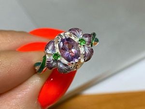 Волшебные ирисы в наличии. Серебряное кольцо. Ярмарка Мастеров - ручная работа, handmade.
