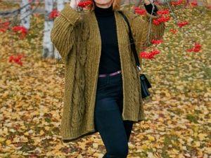 """Описание и схема к кардигану """"Осенний"""" или """"Дубовый лист"""". Ярмарка Мастеров - ручная работа, handmade."""