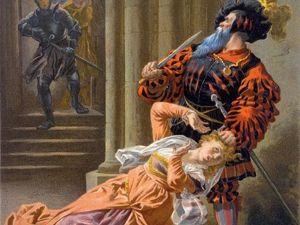 Реабилитация Синей Бороды в 1992 году, его попытка спасти Жанну д'Арк и сожжение на костре инквизиции. Ярмарка Мастеров - ручная работа, handmade.