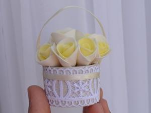 Как сделать миниатюрную корзиночку за 30 минут. Ярмарка Мастеров - ручная работа, handmade.