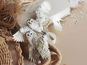 Анонс новых украшений — две совы. Ярмарка Мастеров - ручная работа, handmade.