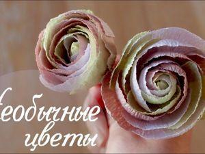 Создаем необычные цветы из гофрированной бумаги. Ярмарка Мастеров - ручная работа, handmade.