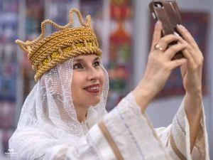 """Кокошник """"Зигзаг"""" из коллекции """"РУСЬ"""". Ярмарка Мастеров - ручная работа, handmade."""