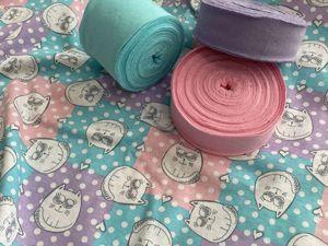 Кулирка Коты квадраты розово-голубые. Ярмарка Мастеров - ручная работа, handmade.