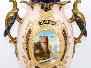 Большая, элегантная ваза, ROYAL BONN, Германия, 1875-1890. Ярмарка Мастеров - ручная работа, handmade.