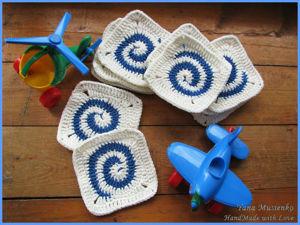 Оригинальный мотив для пледа: мастер-класс по вязанию крючком. Ярмарка Мастеров - ручная работа, handmade.