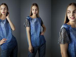 Батик блуза Шелковый свитер. Ярмарка Мастеров - ручная работа, handmade.