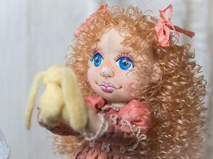 Как пришить волосы-локоны кукле: мастер-класс. Ярмарка Мастеров - ручная работа, handmade.