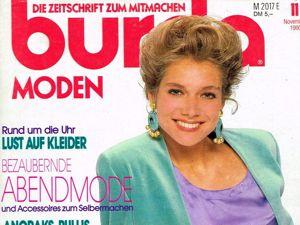 Парад моделей Burda Moden № 11/1990. Немецкое издание. Ярмарка Мастеров - ручная работа, handmade.