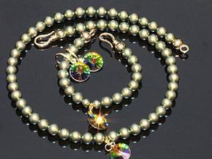 """Создаем браслет """"Зелёное золото"""" с подвеской. Ярмарка Мастеров - ручная работа, handmade."""