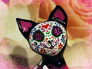 Создаем статуэтку-калаверу «Muertos Cat». Ярмарка Мастеров - ручная работа, handmade.