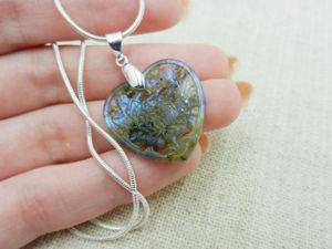 Резной кулон — подвеска  «Сердце»  из натурального камня лабрадор. Ярмарка Мастеров - ручная работа, handmade.