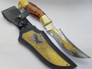 Нож украшенный  «Орел»  № 6. Златоуст z10735. Ярмарка Мастеров - ручная работа, handmade.