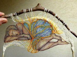 Необычные инсталляции из ниток Herczeg Agnes. Ярмарка Мастеров - ручная работа, handmade.