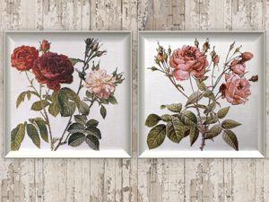 Розы алые или розовые?. Ярмарка Мастеров - ручная работа, handmade.