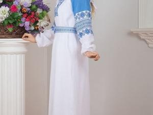 Платье Репейник Счастья (белое). Ярмарка Мастеров - ручная работа, handmade.