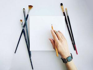 Как преодолеть боязнь чистого листа. Советы начинающим художникам. Ярмарка Мастеров - ручная работа, handmade.