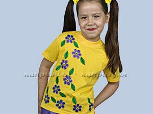 Пришиваем аппликацию на детскую желтую футболку. Ярмарка Мастеров - ручная работа, handmade.