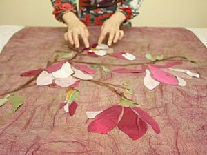 Spring Awakening: How to Decorate Felt Items with Silk Flaps. Livemaster - handmade