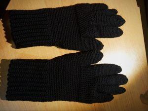 Вяжем зимние перчатки крючком. Ярмарка Мастеров - ручная работа, handmade.