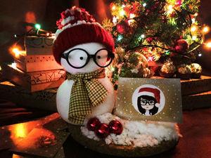 Делаем милого снеговичка-помощника. Ярмарка Мастеров - ручная работа, handmade.