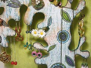 Техника винтажного состаривания, декупаж. Дерево-подставка для украшений.. Ярмарка Мастеров - ручная работа, handmade.