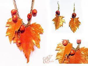 """Создаем комплект украшений """"Осень"""". Ярмарка Мастеров - ручная работа, handmade."""