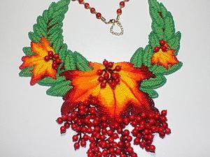 """Создание колье из бисера """"Осенние краски"""". Ярмарка Мастеров - ручная работа, handmade."""