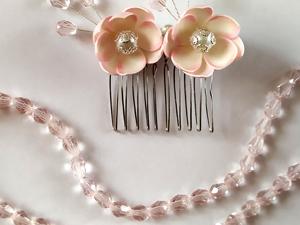 Создаем заколку с цветами и кристаллами. Ярмарка Мастеров - ручная работа, handmade.