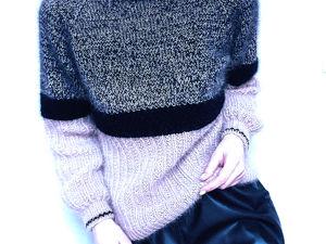 Новинка! Нежный свитер из ангоры с кид-мохером. Ярмарка Мастеров - ручная работа, handmade.