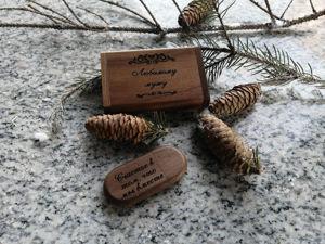 Деревянные флешки с гравировкой. Ярмарка Мастеров - ручная работа, handmade.