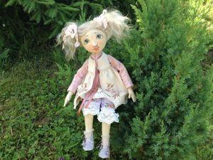 Мой лайфхак с прикреплением козьего тресса к головке куклы. Ярмарка Мастеров - ручная работа, handmade.