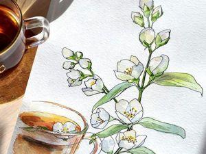 Видео мастер-класс: рисуем цветочные скетчи. Ярмарка Мастеров - ручная работа, handmade.