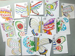 Рисуем вместе с детьми симметричных бабочек для настольной игры «Найди половинку». Ярмарка Мастеров - ручная работа, handmade.