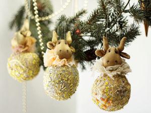 Елочные шары Золотой теленок и не только. Ярмарка Мастеров - ручная работа, handmade.