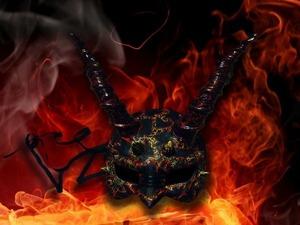 """Декорируем маску """"Devilish Dragon"""". Ярмарка Мастеров - ручная работа, handmade."""