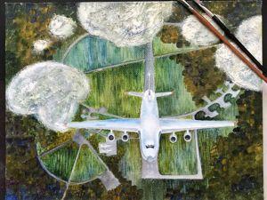 Летим в новый год! Новая картина  «Взлет». Ярмарка Мастеров - ручная работа, handmade.