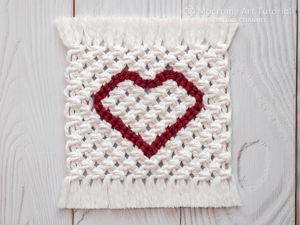 Плетем двухцветную салфетку с сердцем. Ярмарка Мастеров - ручная работа, handmade.