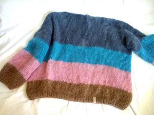 Новинка! Мохеровый свитер ColorBlock. Ярмарка Мастеров - ручная работа, handmade.