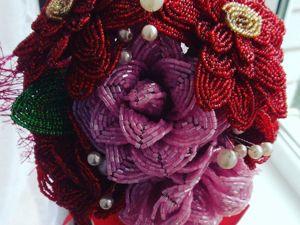 Немножко о цветах из бисера. Ярмарка Мастеров - ручная работа, handmade.